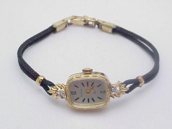 3020: Lady's 14kt Bulova Watch 23 Jewel