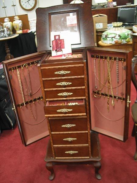 3010: Jewelry Armoire with costume jewelry