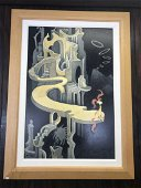 Dr. Seuss Signed Print of Pink Tufted Small Beast