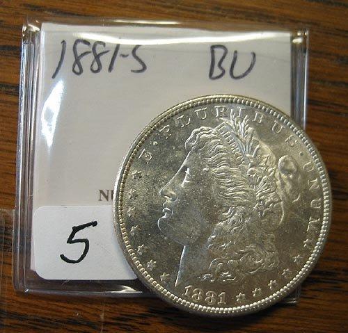 2005: 1881-S Morgan Silver Dollar  BU
