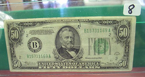 2008: 1934-A $50 Federal Reserve Note VG