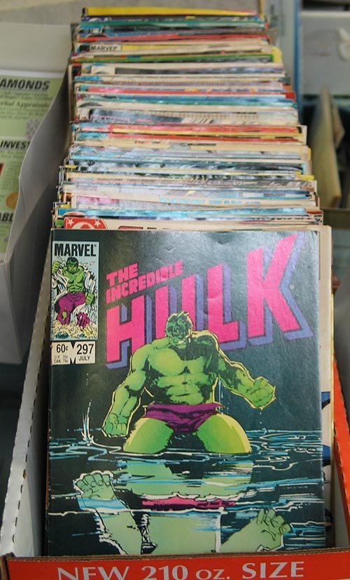2012: Box Lot of 150 DC & Marvel Comic Books - Hulk, Fa