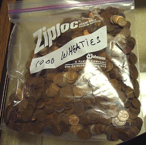 2013: Bag of 1000 Mixed Date Wheat Pennies