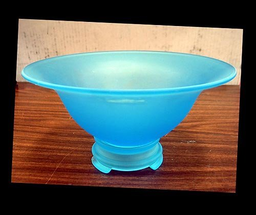 3004: Satin glass blue bowl