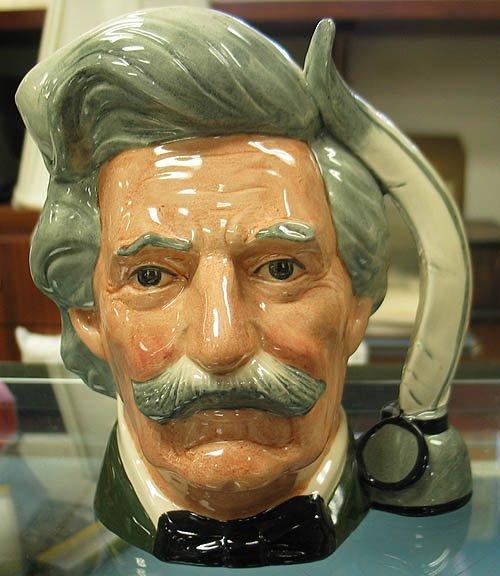 3022: Royal Doulton Toby Jug Mark Twain D6654