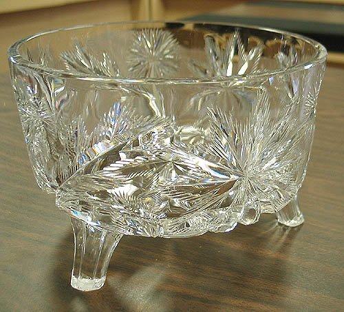 3019: Libbey cut crystal bowl