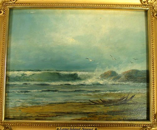 3018: Painting, signature unreadable