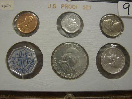 4009: 1960 United States Proof Set - Large Date in Acry