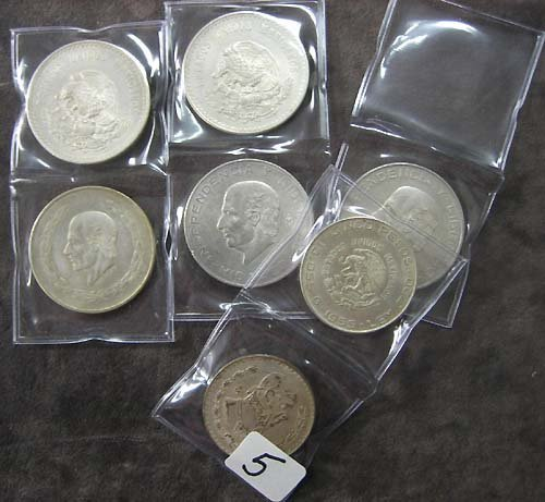 4005: 7 Piece Lot of Circulated Mexican Hildago Coins