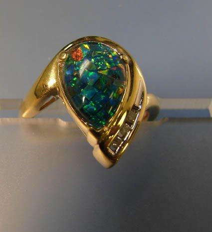 3003: Opal Doublet Ring 14kt