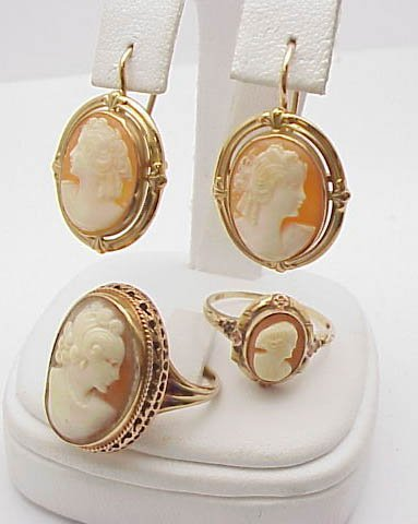 3012: Cameo Collection 2 rings & Earrings