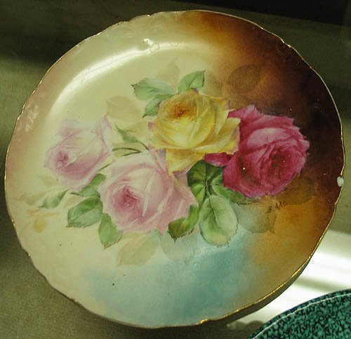 3014: Antique hand painted plates