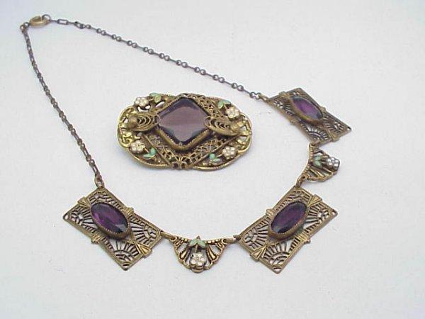 3016: Vintage Necklace & Lapel Pin Filigree