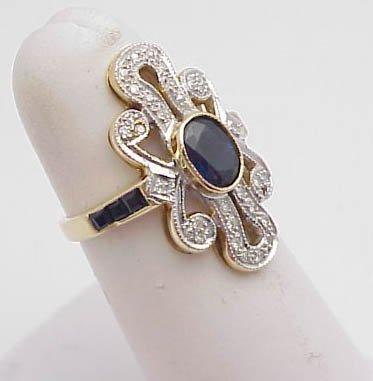3005: Lady's Ring Sapphire & Diamond