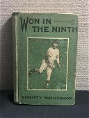 Won In The Ninth Signed Christy Mathewson Book