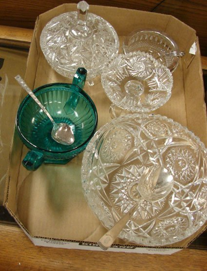 3: Box lot of crystal and glass bowls