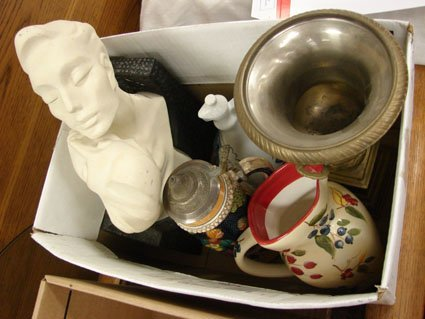 4: Box lot of assorted pottery, figurines