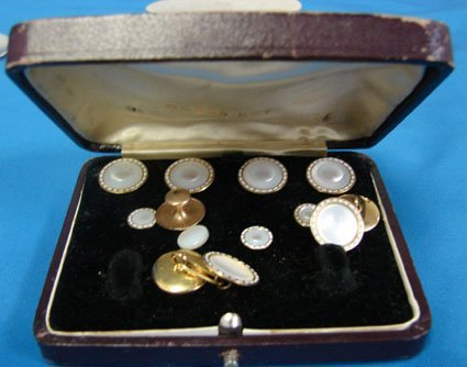 15: Vintage Mother of Pearl Tuxedo Buttons
