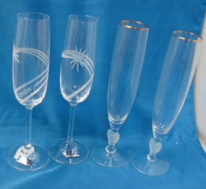 19: 4 Marquis Waterford Champage Flutes
