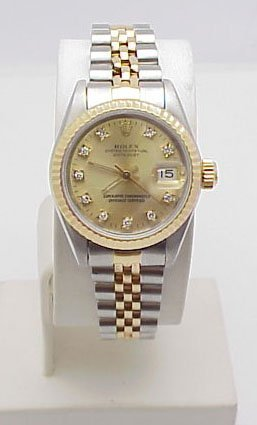 102: Lady's Date Just Rolex Champagne Dial