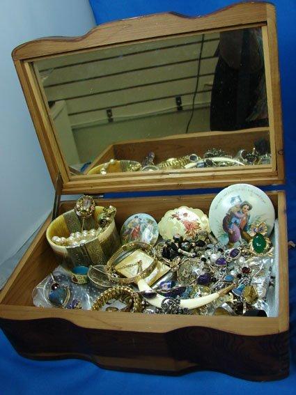 7: Box lot assorted Costume Jewelry
