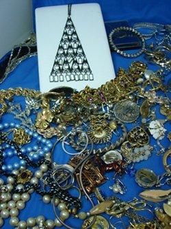 8: Box lot Assorted Costume Jewelry