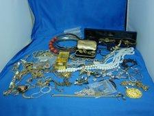 9: Box lot Assorted Costume Jewelry