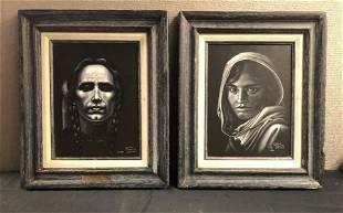 Pair Glenda Thompson Wathen Original Paintings