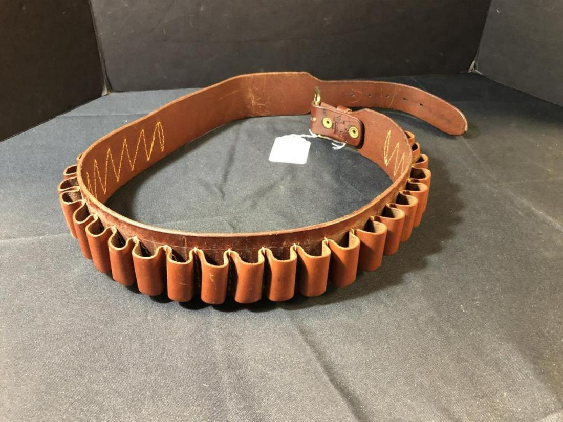 Triple K Leather Ammo Belt for 12 Ga Shotgun Shell