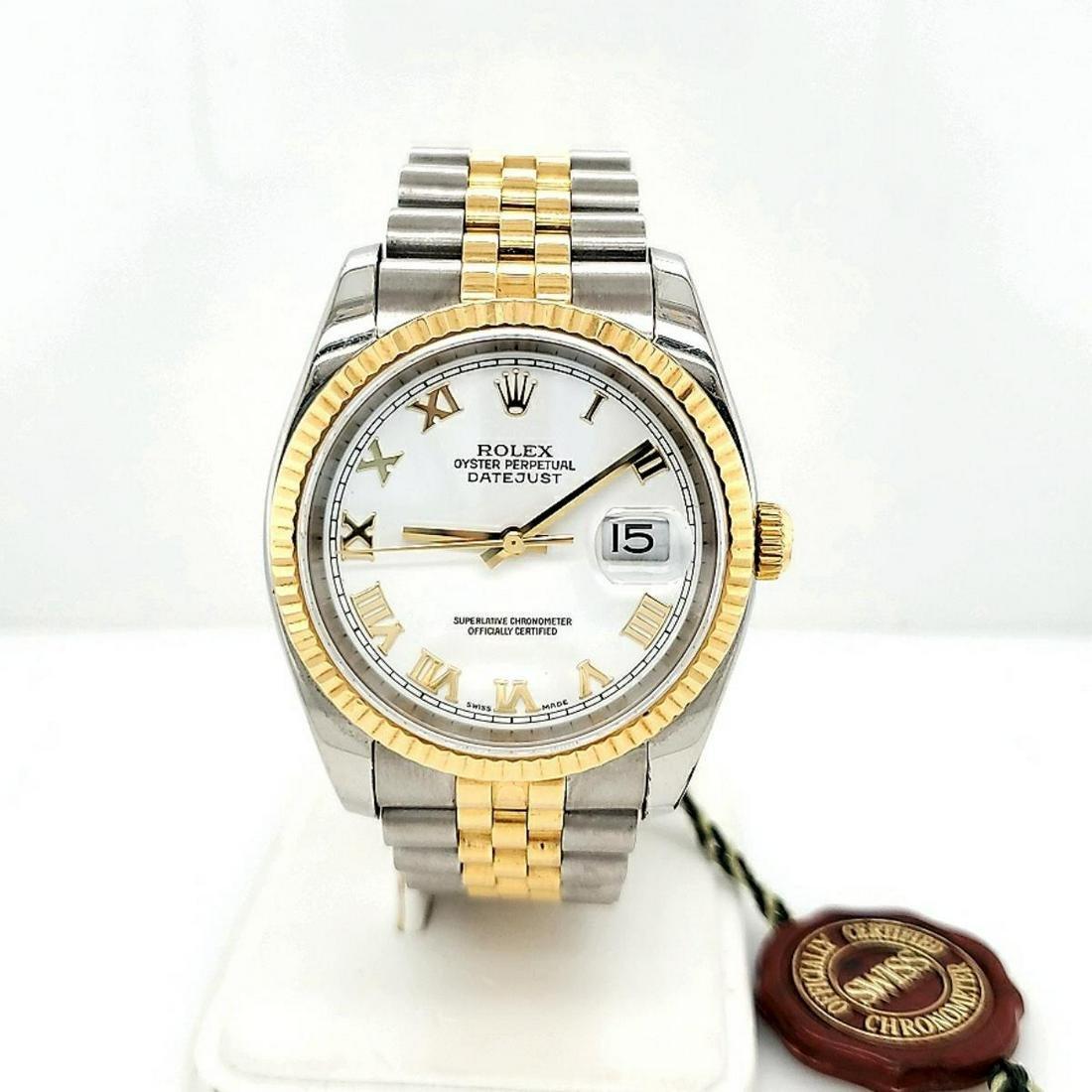 Men's two tone Rolex Datejust watch