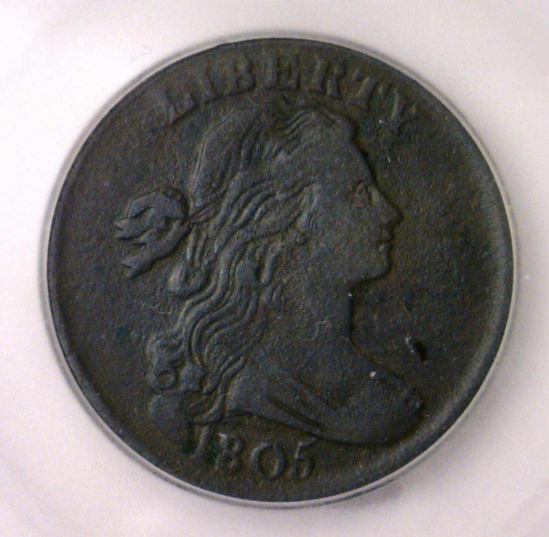 1805 Draped Bust Large Cent ICG VF30 details