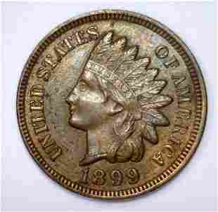 1899 Indian Head Cent About Uncirculated AU