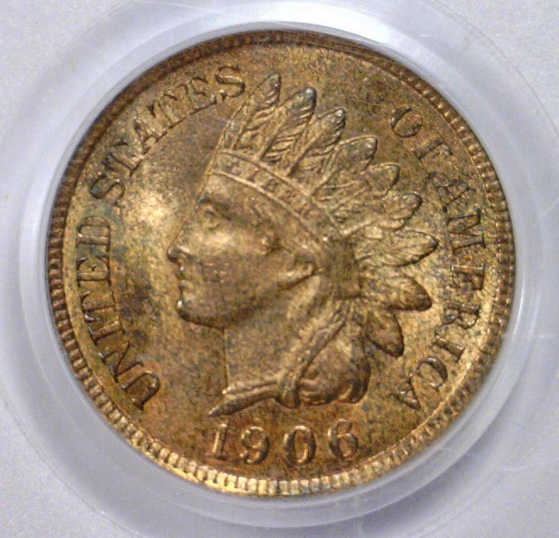 1906 Indian Head Cent PCGS MS64 RB