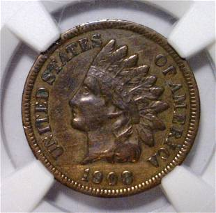 1908S Indian Head Cent NGC XF details IC