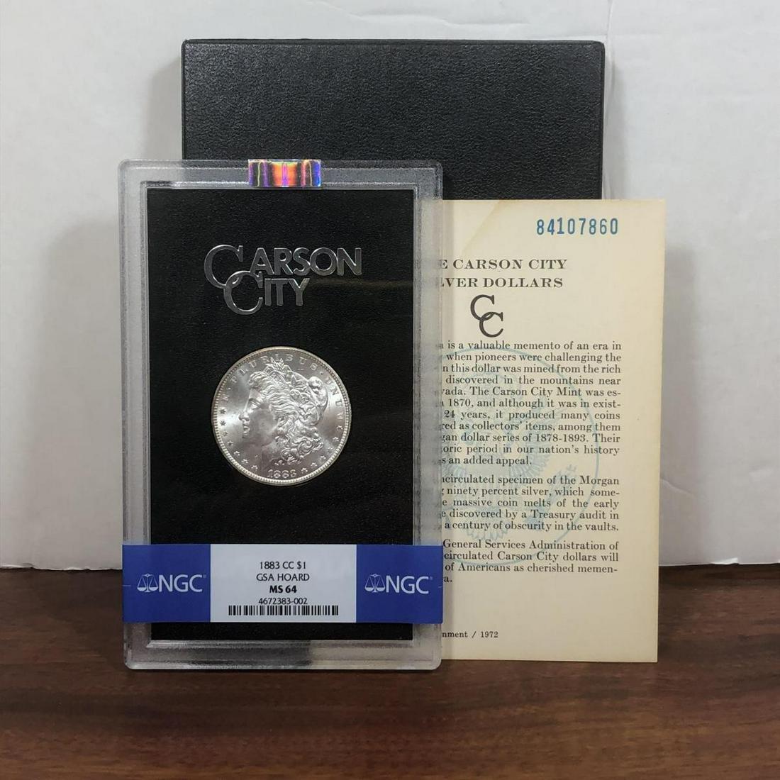 1883-CC Morgan Silver $1 GSA NGC MS64