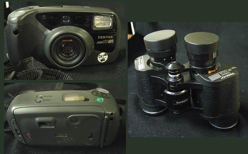 3: Pentax Camera and Tasco Binoculars