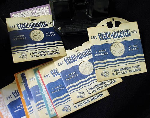 4: Book lot with viewmaster reels