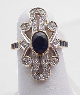 5: Lady's Ring Sapphire & Diamond