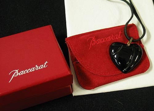 6: Baccarat signed heart necklace