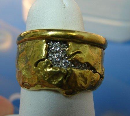 24: 18kt & Platinum Diamond Ring SeidenGang