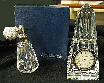 2001: Waterford Obelisk Clock and Atomizer