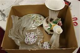 2216 Box lot Crystal  Porcelain incl Lenox