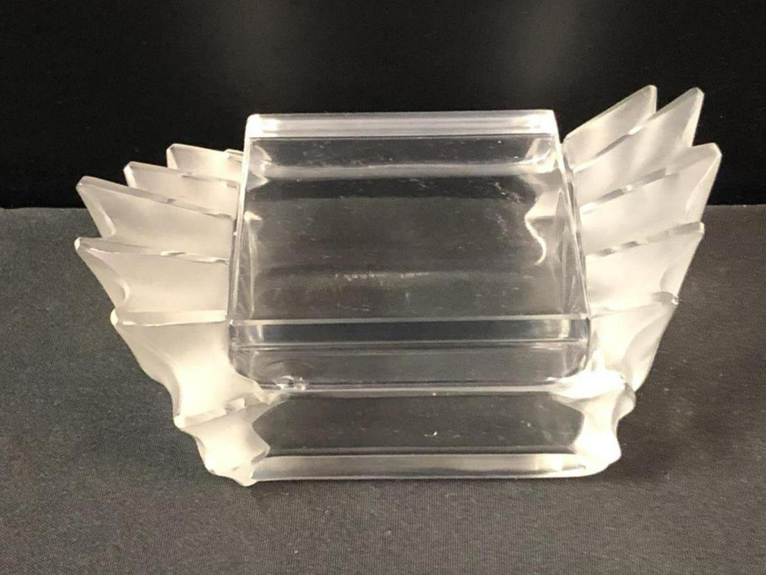 Lalique Art Deco Crystal Trinket Box