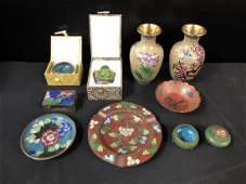 Lot Of Misc Cloisonne Asian Oriental Collectibles