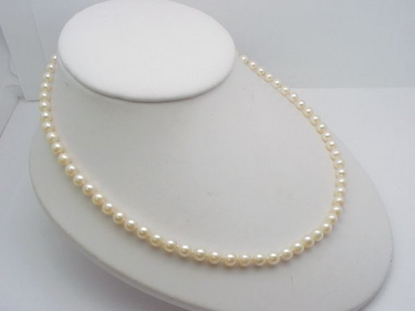 """2: 18"""" strand of Pearls 5.5-6 mm"""