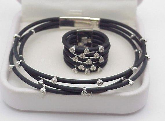 3: Diamond & Rubber Strap Bracelet Ring