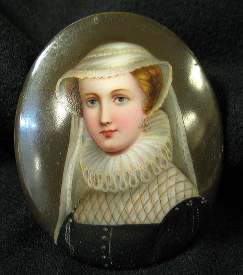 4: Hand Painted Portrait on Porcelain