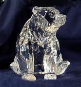 58: Swarovski Crystal Grizzly Bear w/box