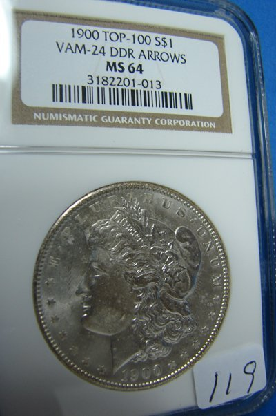 1119: 1900 Morgan Silver Dollar Top 100 VAM-24 DDR Arro