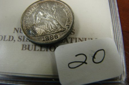 1020: 1886 Dime Brilliant Uncirculated